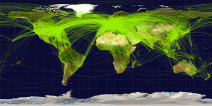 Mapa Mundial Transporte Aereo
