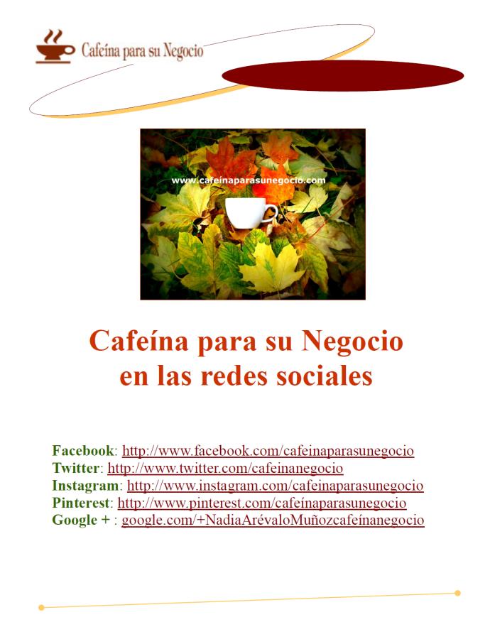 Cafeína en las redes sociales